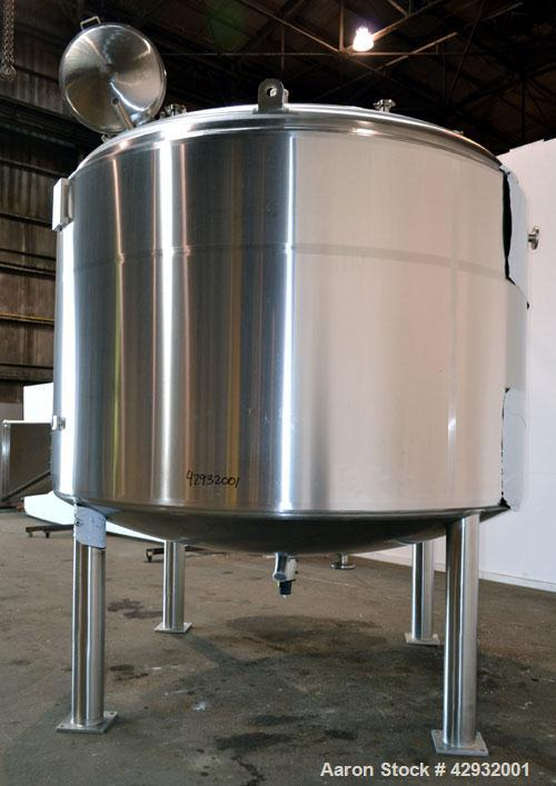 Used- DCI Reactor, 13000 Liter (3435 Gallon), 316L Stainless Steel, Vertical. 114'' Diameter x 66'' straight side, dished to...