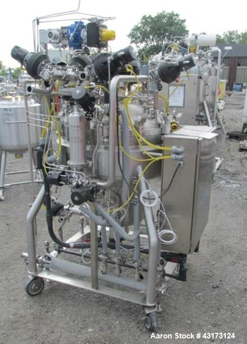 "Used-DCI reactor,180 liter, 316 stainless steel construction, approximately 30"" diameter x 8"" straight side with bottom sump..."
