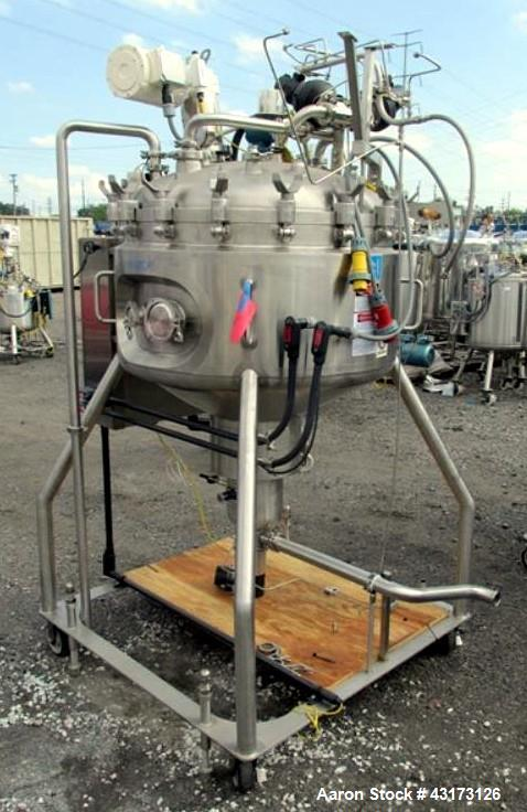 """Used- DCI reactor, 350 liter, 316 stainless steel construction, approximately 36"""" diameter x 10"""" straight side with bottom s..."""