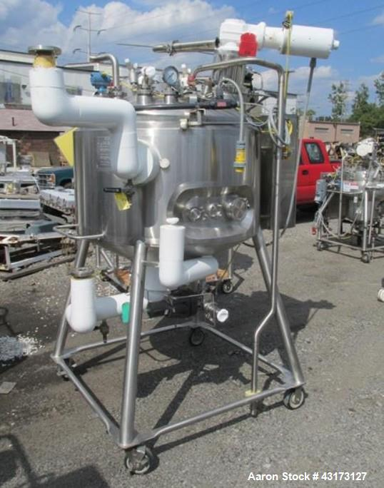 """Used- DCI reactor, 500 liter, 316 stainless steel construction, approximately 42"""" diameter x 22"""" straight side, dish top, 12..."""