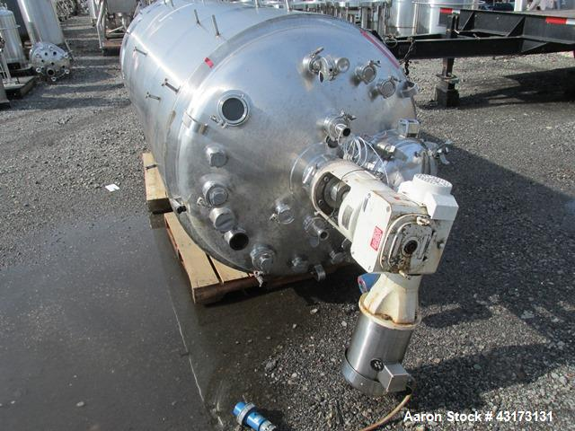 "Used- DCI Reactor, 3500 Liter, 316L Stainless Steel. Approximately 48"" diameter x 114"" straight side, dish top and bottom, r..."