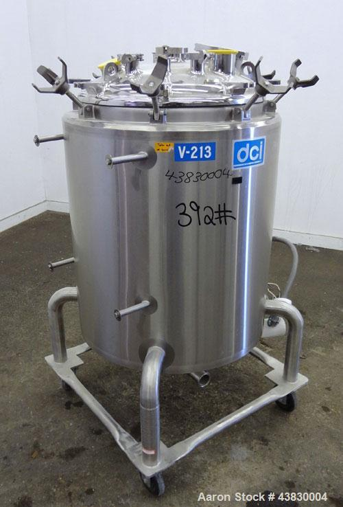 "Used- DCI Reactor, 200 Liter (52.8 Gallon), 316L Stainless Steel, Vertical. Approximately 24"" diameter x 27"" straight side. ..."