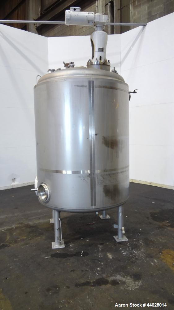 "Used- DCI Reactor, 2250 Liter (594 Gallon), 316L Stainless Steel, Vertical.  54"" Diameter x 68"" straight side, dished top an..."