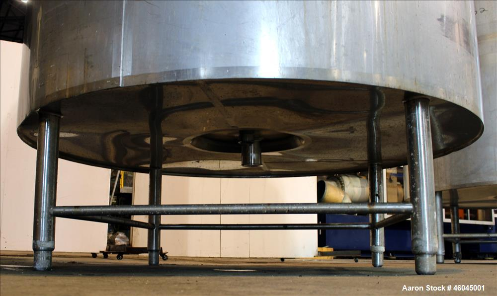 Used- DCI 4,000 Gallon, 316L Stainless Steel, Vertical Reactor.