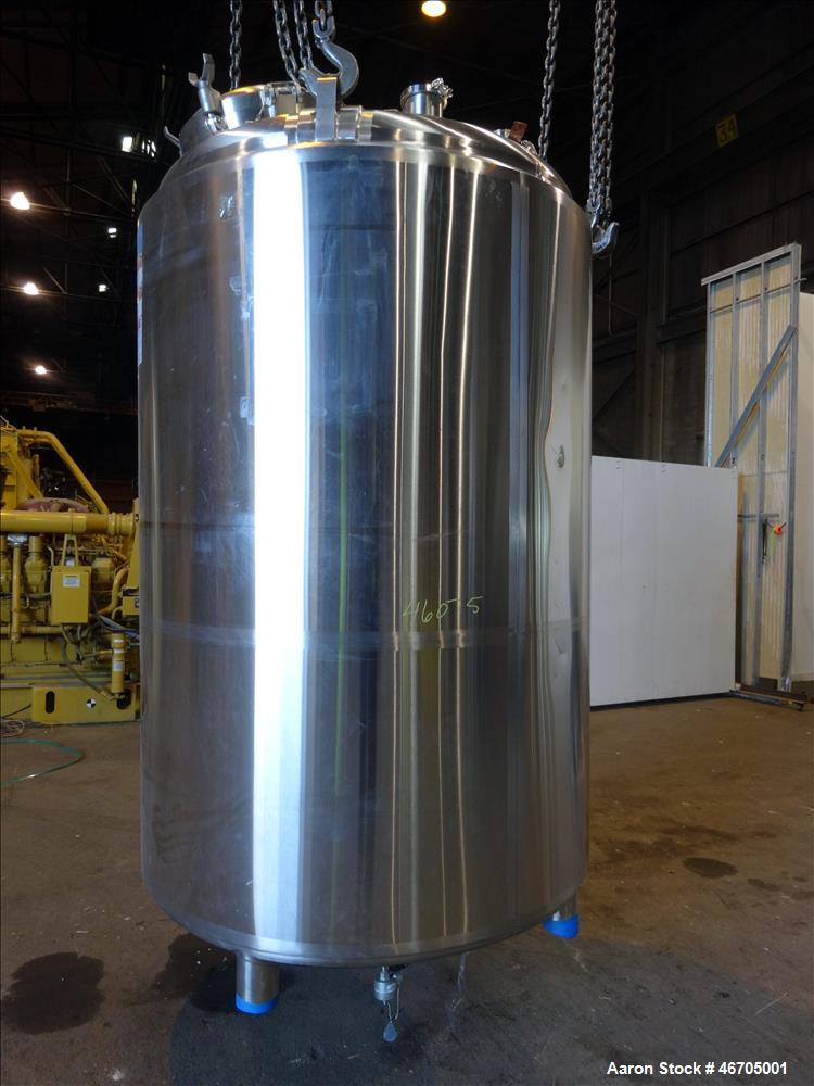 Used- DCI Reactor, 3000 Liter (792 Gallon), 316L Stainless Steel, Vertical.
