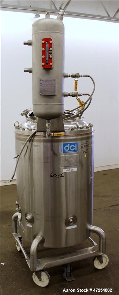 Used-  DCI Reactor, 66 Gallon, 316 Stainless Steel, Vertical.