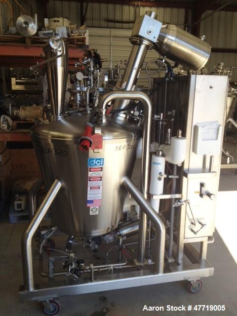 """Used- DCI Reactor, 370 Liter (97.7 Gallon), 316L Stainless Steel, Vertical. 36"""" Diameter x approximate 33"""" deep 25 degree co..."""