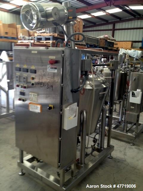 "Used- DCI Reactor, 370 Liter (97.7 Gallon), 316L Stainless Steel, Vertical. 36"" Diameter x approximate 33"" deep 25 degree co..."