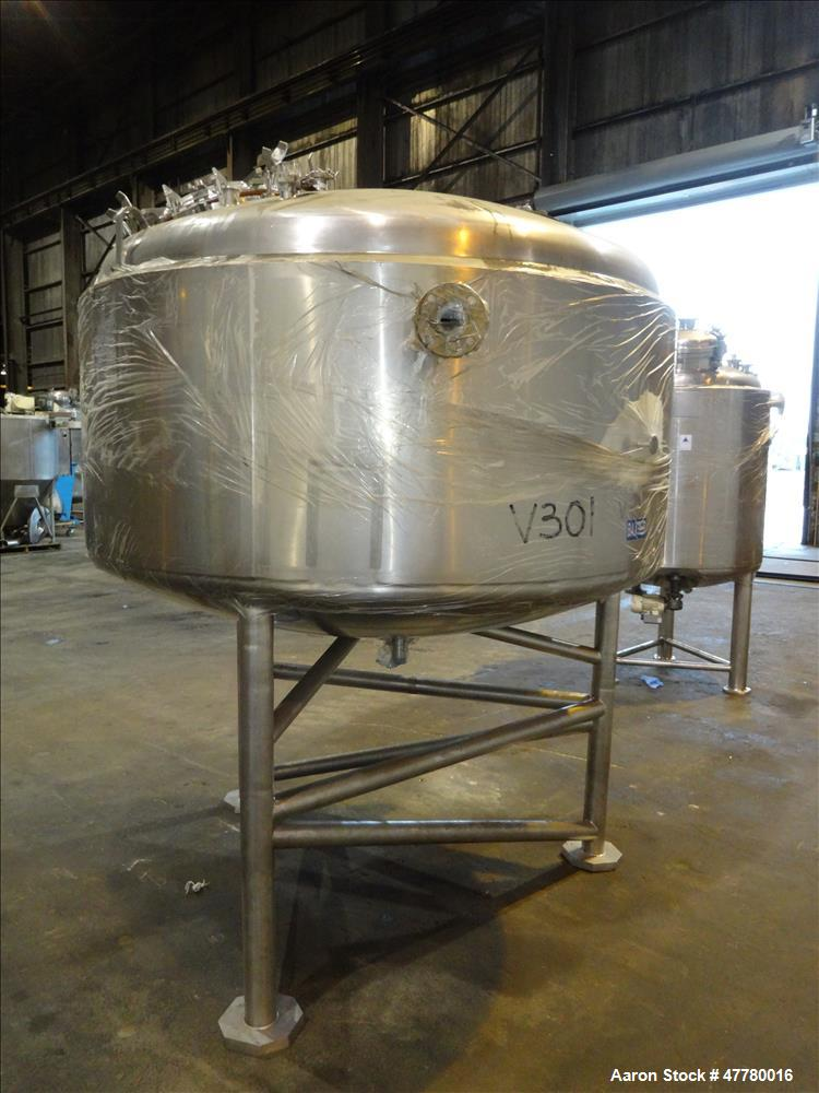 Used- DCI Reactor, 2000 Liter (528 Gallon), 316L Stainless Steel, Vertical.