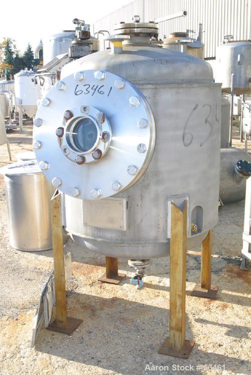 """Used- Eagle Boiler Reactor, 204 Gallon, 304 Stainless Steel, Vertical. 36"""" Diameter x 36"""" straight side, dished top and bott..."""