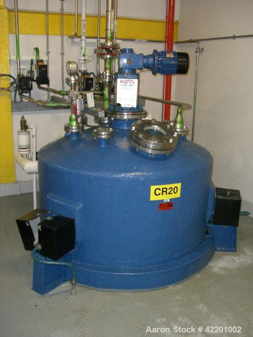 Used- Echo Engineering Reactor, Approximately 422 Gallon (1,600 Liter), Stainless Steel, Vertical. Dish top, coned bottom. I...