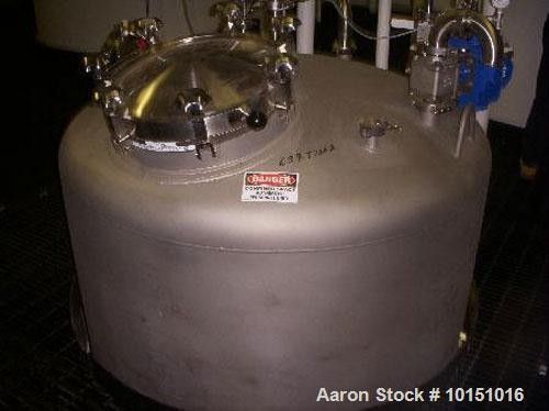 "Unused-Feldmeier approximate 1,450 gallon, 316L sanitary stainless steel, process vessel. 4'6"" diameter x 11'6"" straight sid..."