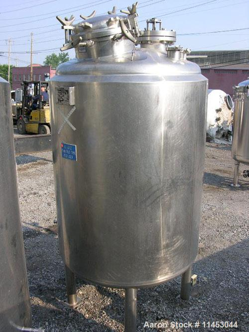 Unused-1150 liter (300 gallon) Feldmeier reactor. 316L stainless steel construction, 25Ra electro-polished internal finish, ...