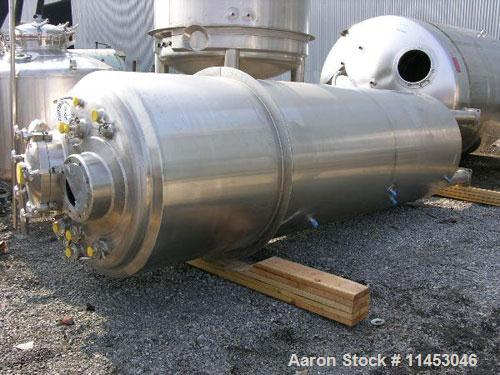 Unused-3900 liter (1030 gallon) Feldmeier reactor. 316L stainless steel construction, 25Ra electro-polished internal finish,...