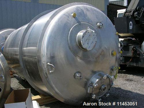 Unused-11,000 liter (2900 gallon) Feldmeier reactor. 316L stainless steel construction, 25Ra electro-polished internal finis...