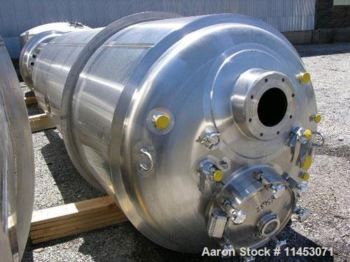 Unused-4500 liter (1188 gallon) Feldmeier reactor. 316L stainless steel construction, 25Ra electro-polished internal finish,...