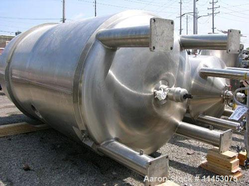 Used-Unused-11,000 liter (2900 gallon) Feldmeier reactor. 316L stainless steel construction, 25Ra electro-polished internal ...