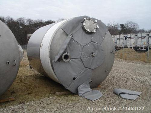 "Used-5000 Gallon Feldmeier Reactor, 316L sanitary stainless steel construction. 8'4"" diameter x 12' straight side, dished to..."
