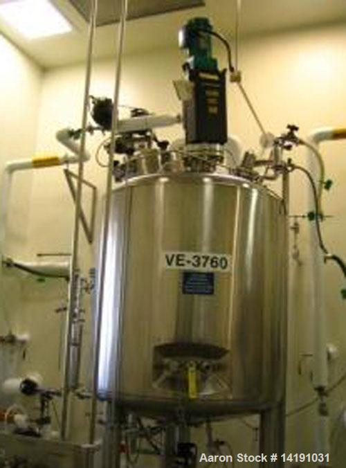 Used- 300 Gallon Stainless Steel Feldmeier Jacketed Reactor
