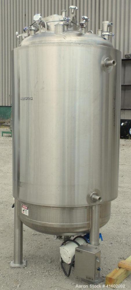 "Used- Feldmeier Reactor, 264 Gallons (1000 liters), 316L Stainless Steel, Vertical. 36"" diameter x 60"" straight side, dished..."