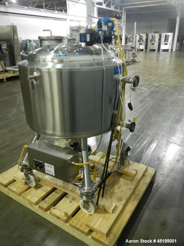 "Used- Feldmeier Reactor, 200 Liter (52.8 Gallon), 316L stainless steel construction. Approximately 30"" diameter x 18"" straig..."