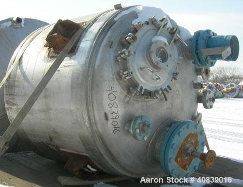 """Used- Groen Reactor, 300 Gallon, Model 300 GAL.SP, 316 Stainless Steel, Vertical. 48"""" Diameter x 40"""" straight side, dished t..."""