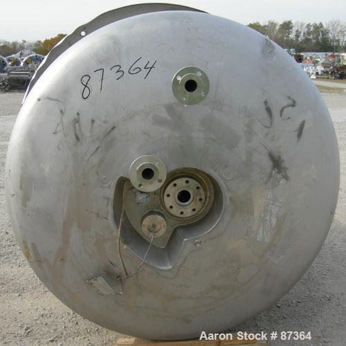 """Used- Hermann Waldner Reactor, 3000 Liter (792 Gallons), 316 Stainless Steel, Vertical.  1550 mm (60"""") Diameter x 1500 mm (5..."""