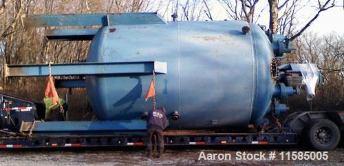 Used-Approximately 10,000 Gallon Stainless Steel Reactor Manufactured by Industrial Welding. Internal T304L stainless steel ...
