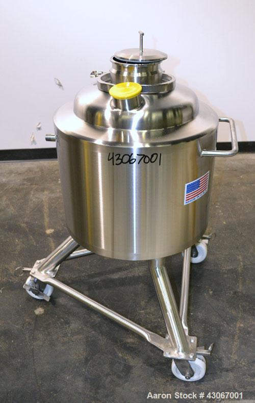 Unused- Pure-Flo Precision Reactor, 50 Liter (13.2 Gallon), 316L Stainless Steel, Vertical. 16'' Diameter x 16'' straight si...