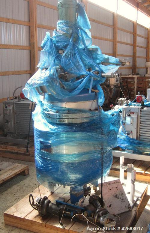 "Used- J. D. Cousins Reactor, 25 Gallon, 316L Stainless Steel, Vertical. 20"" Diameter x 16"" straight side. 2:1 Elliptical bol..."