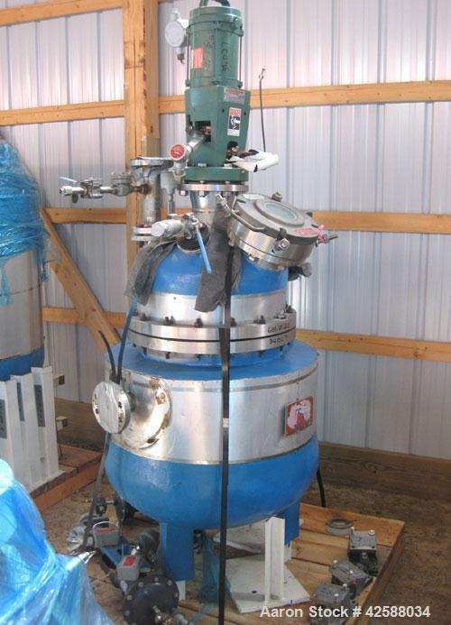 "Used- J.D. Cousins Reactor, approximately 30 gallon, 316L stainless steel. 20"" Diameter x 20"" straight side, dished bolted t..."