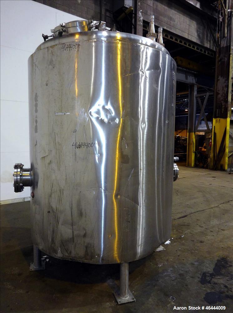 """Used- Lee Industries Reactor, 1000 Gallon, Model 1000U, 304 Stainless Steel, Vertical. 66"""" Diameter x 66"""" straight side, dis..."""