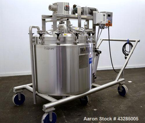 "Used- Lee Industries Double Motion Vacuum Kettle/Reactor, 150 Gallon, Model 150D9MT, 316 L Stainless Steel. Approximate 42"" ..."