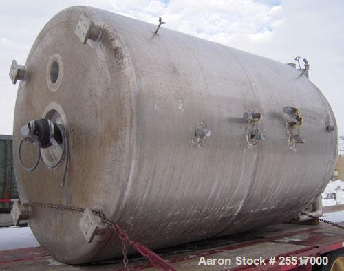 "UNUSED-  Lee 3000 Gallon Reactor. Type 316L stainless steel construction. Built in 2001. 90"" I.D. x 117"" straight side. Weld..."