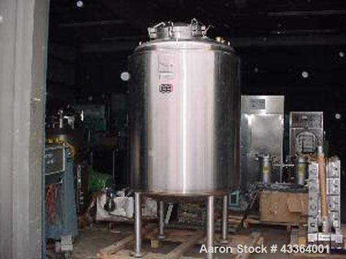 """Used-Lee Industries 1,300 Liter 316L Reactor.44"""" x 57"""" dished top and bottom, vertical, 343 gallons, 18"""" mw, 6"""" mixer flange..."""
