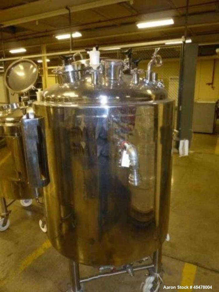 Used-Lee Reactor 300 Liter(79.25 Gallon) Stainless Steel. Vertical. Internal Vacuum / 50 PSI @ -20/ +300 Degree F. Jacket ra...