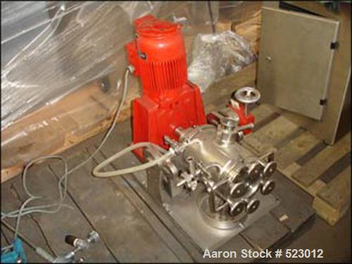 USED: 1.9 liter List continuous kneader devolatizer reactor, type Discotherm B. Stainless steel construction, 2.65 liter tot...