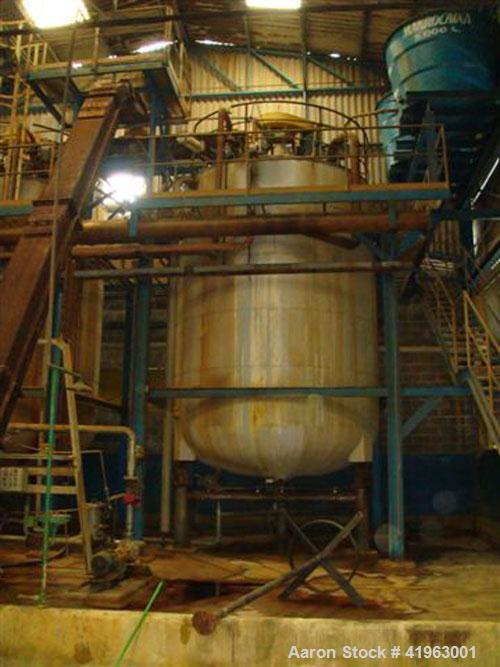 Used-Reactor, MEC Jaragua, 14,500 gallon / 55 cubic meter capacity, type Alloy SMO-254 construction. Internal coil, 850 kpa,...