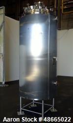 Used- Feldmeier Reactor, 316L Stainless Steel, Approximate 500 Gallon, Vertical.