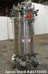 Used- Precision Stainless Reactor, 400 Liter, Approximately 105.66 gallons
