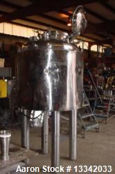 Used- Berents 165 Gallon Reactor. Stainless Steel.