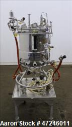 Used- Biolafitte Reactor, 63 Liter (16.6 Gallon), 316 Stainless Steel, Vertical.