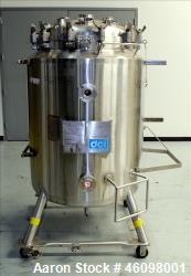 "DCI Reactor, 400 Liter (105.66 Gallon) 316L Stainless Steel, Vertical. 30"" Diameter x 44"" straight ..."