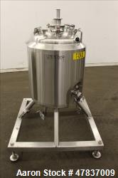 "DCI Reactor, 100 Liter (26 Gallon), 316L Stainless Steel, Vertical. 20"" Diameter x 21"" straight side..."