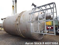 "Used- Enerfab Reactor, Approximate 18,459 Gallon, 304L Stainless Steel, Vertical. Approximate 144"" diameter x 225"" straight ..."