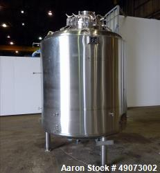 Used- Feldmeier Reactor, 3500 Liter (925 Gallon), 316L Stainless Steel, Vertical