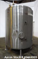 "Lee Industries Reactor, 1000 Gallon, Model 1000U, 304 Stainless Steel, Vertical. 66"" Diameter x 66""..."