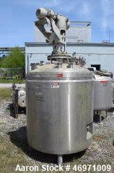 "Used- Lee Industries Reactor, 300 Gallon, Model 300 DBT, 317L Stainless Steel, Vertical. 48"" Diameter x 40"" straight side, d..."