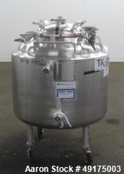 Used- Letsch Reactor, Approximate 60 Gallon, 316L Stainless Steel, Vertical.