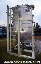 "Used- B. Nolte & Sons Reactor, 1200 Gallon, 304 Stainless Steel, Vertical. Approximate 66"" Diameter x 72"" straight side, dis..."